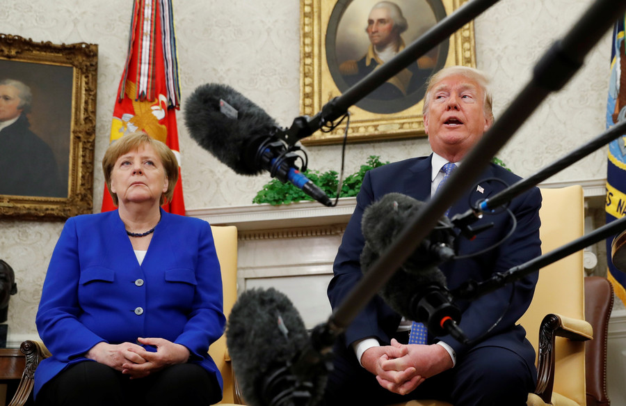 Trump tries to woo Merkel with his Macron moves, but no chemistry there