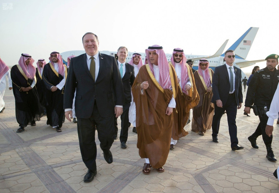 Pompeo lands in Saudi Arabia, immediately calls for new sanctions against Iran