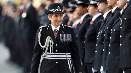 Cressida Dick, Metropolitan Police Commissioner, inspects cadets during a parade last year. © Peter Nicholls