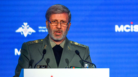 Iranian Defense Minister Amir Hatami in Moscow on April 4, 2018.©  Alexander Nemenov