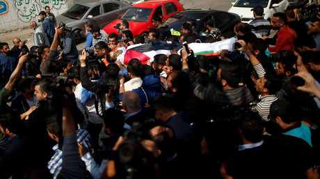 Funeral held for Palestinian journalist killed by IDF at #GreatReturnMarch (VIDEO)