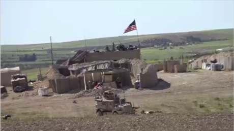 An outpost established by the US-led coalition in the Manbij area in the northern Syria. © Ruptly