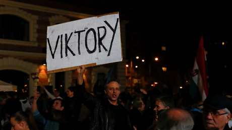 Hungary PM Orban declares victory as ruling party projected to take 67% of parliament seats