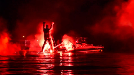 Judas effigy turned into raging inferno by Greeks celebrating Easter (VIDEO)