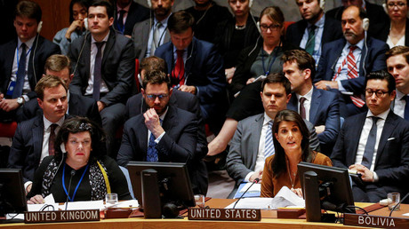 Haley uses child victims as tool v Russia – after US called civilian casualties a 'fact of life'
