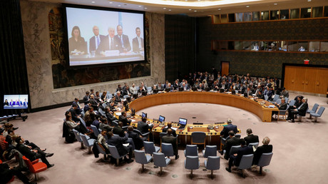 FILE PHOTO. The UN Security Council meets on Syria in New York, US on April 9, 2018. © Brendan McDermid