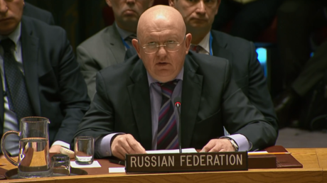 Russian Ambassador to the United Nations Vasily Nebenzya. © Ruptly