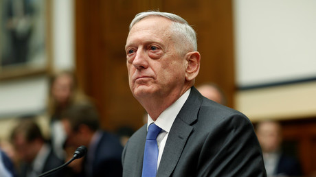 US Secretary of Defense James Mattis waits to testify to the House Armed Services Committee on