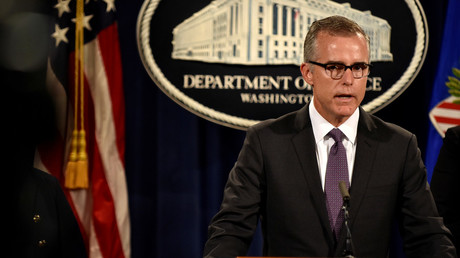 Former FBI #2 McCabe press leaks 'violated DOJ policy' - Inspector General