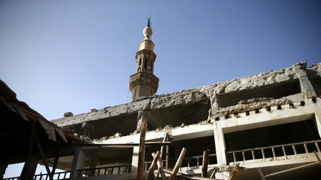 Ruins in Douma, the Syrian city where OPCW inspectors are expected to visit.