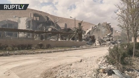 EXCLUSIVE: View of science center in Syria targeted by US-led strikes (VIDEO)