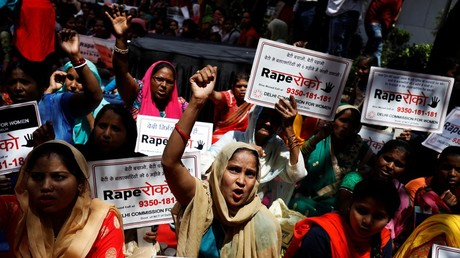 Clashes and tear gas in Indian city as protests over rape of 8yo Muslim girl turn violent