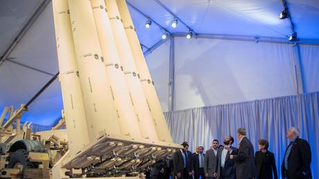 Saudi Arabia's Crown Prince Mohammed Bin Salman is seen during his visit to Lockheed Martin, April 6, 2018. ©/Bandar Algaloud/Courtesy of Saudi Royal Court
