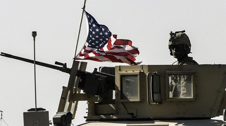 FILE PHOTO: A US military convoy drives on a highway from Kobane to Ain Issa, Syria © Bulent Kilic