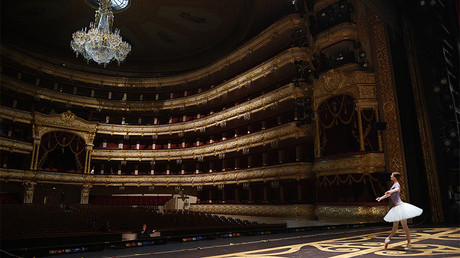 FILE PHOTO: Ballerina at the original Bolshoi Theatre stage © Ramil Sitdikov
