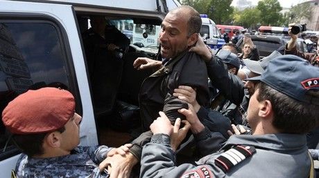 Protest leaders among nearly 300 detained in Armenia as authorities say law & order is threatened