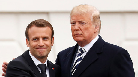 'Beautiful friendship'? Trump and Macron's awkward body language (VIDEO)