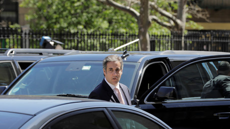 President Donald Trump's personal lawyer Michael Cohen arrives at federal court in New York, April 26, 2018.  © Lucas Jackson