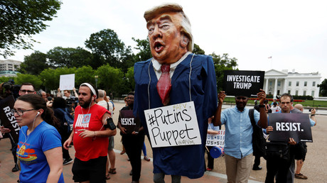 Protesters in front of the White House in Washington, US July 11, 2017 © Jonathan Ernst