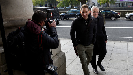 FILE PHOTO: Austrian lawyer, Max Schrems arrives at the Four Courts building in Dublin, Ireland, October 3, 2017. © Clodagh Kilcoyne/File Photo