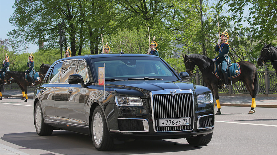 Putin rides in new, long-rumored state car at inauguration ceremony (VIDEO, PHOTO)
