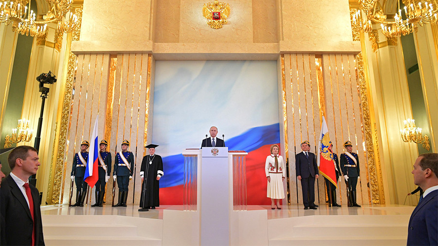 Putin prioritizes economic breakthrough, quality of life in swearing-in speech