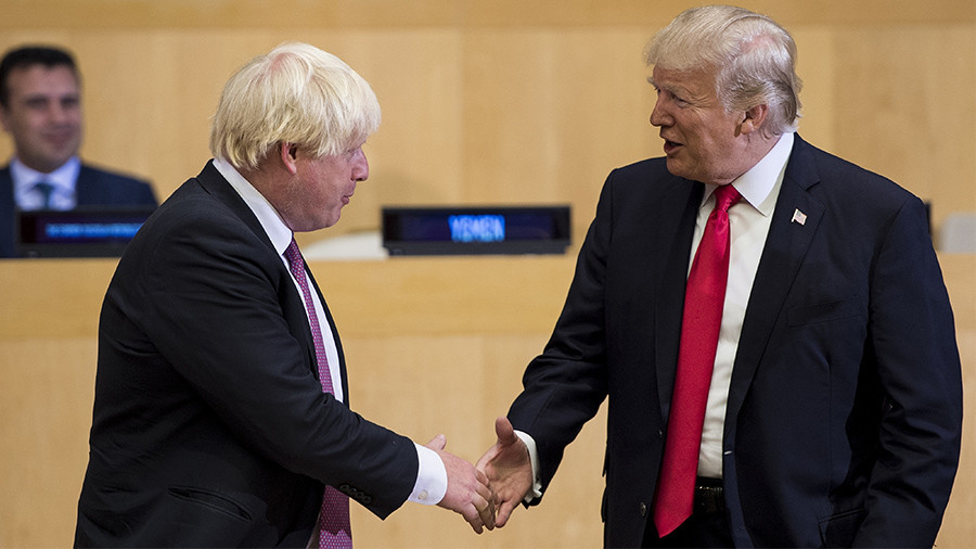 Mr. Johnson goes to Washington: Is pushing Trump to stay in Iran deal exercise in futility?