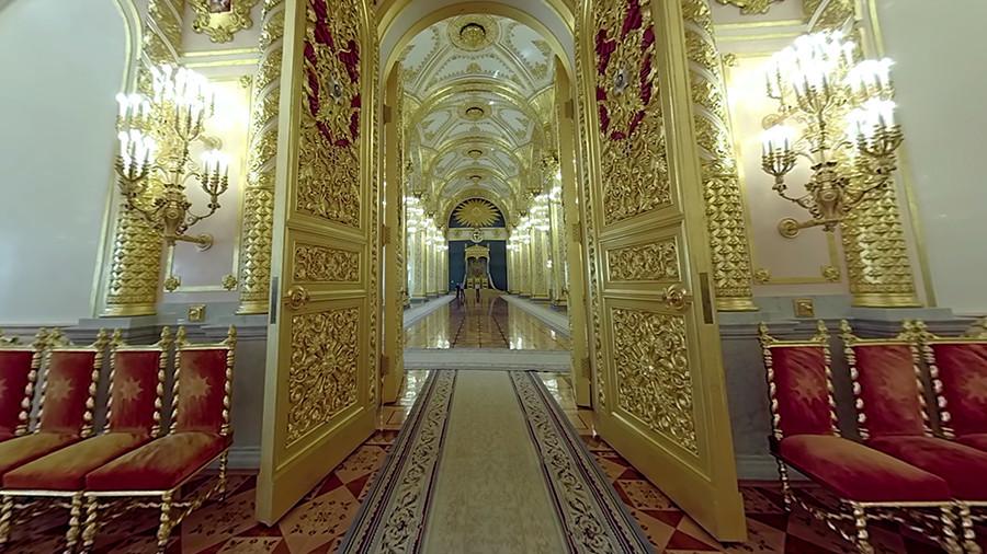 Putin's inauguration 360: VR tour inside Grand Kremlin ...