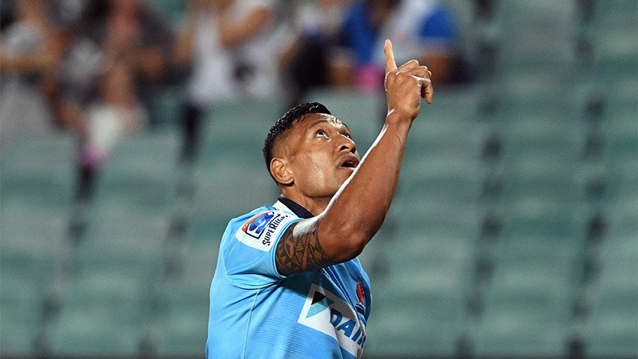 Wallabies star Folau rekindles anti-gay controversy again after sharing 'homophobic' video