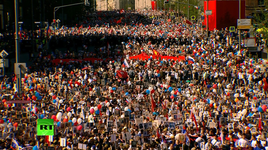 Foreign Leaders March With Russia's 'Immortal Regiment' for First Time