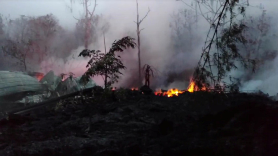 Smoke rises from Hawaii volcano summit