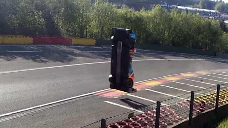 Russian driver unhurt following incredible crash at Spa