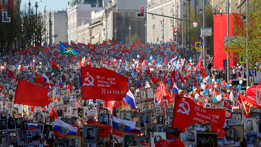 Russia's FSB foiled terrorist attack on massive V-Day Immortal Regiment march in Moscow – official