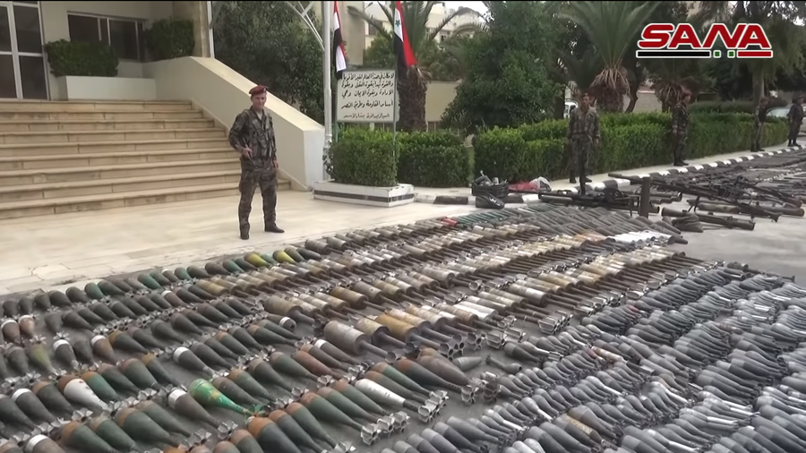 Israeli-made weapons among arms handed over by militants in Damascus