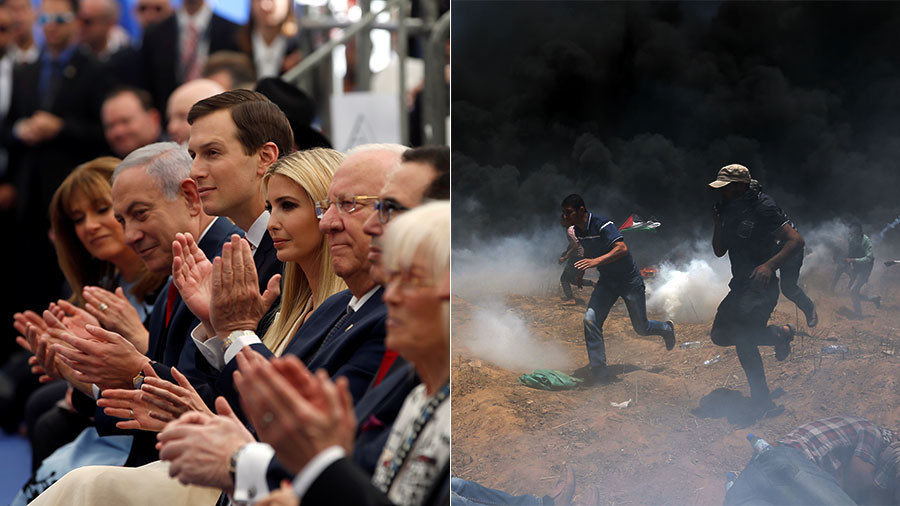Smiles amid bloodbath: Twitter points out bad optics of US embassy opening during Gaza massacre