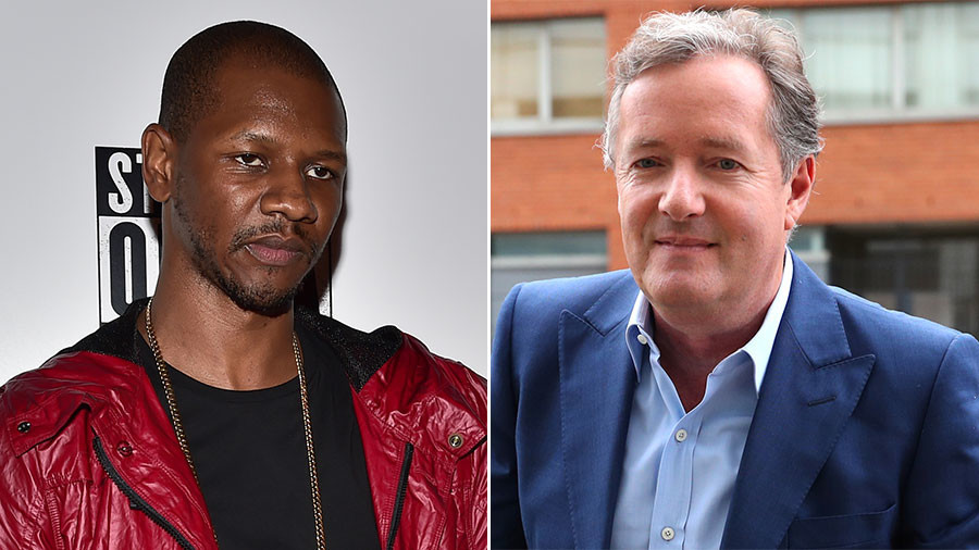 'Pussyole' Piers Morgan slammed by London rapper over stop and search comments
