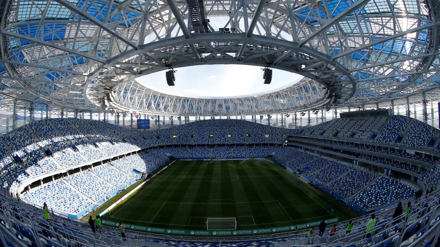 Nizhny Novgorod offered food to workers in bid to finish World Cup stadium on time