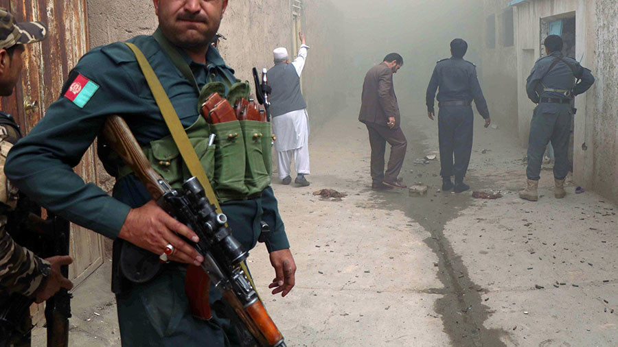 USA and Afghanistan launch air strikes as Taliban attack western city