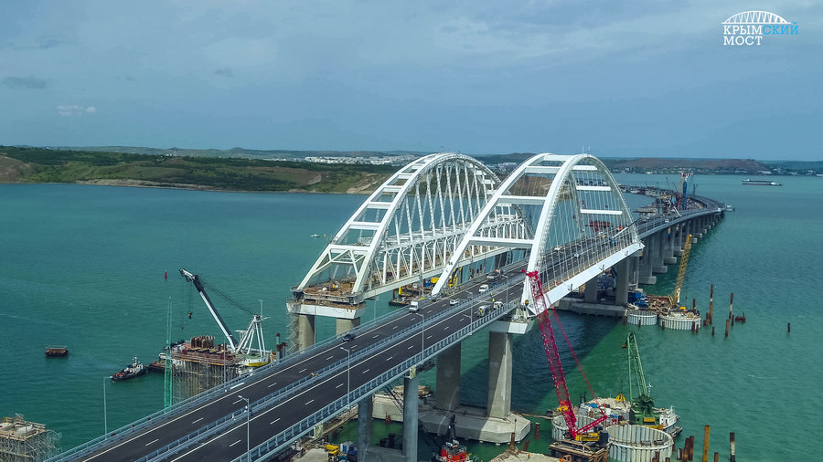Putin attends opening ceremony of Crimean Bridge (WATCH LIVE)