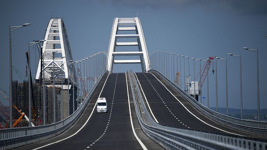 Crimea river: Ukraine wants to bill Russia for future 'financial losses' from Kerch Strait bridge