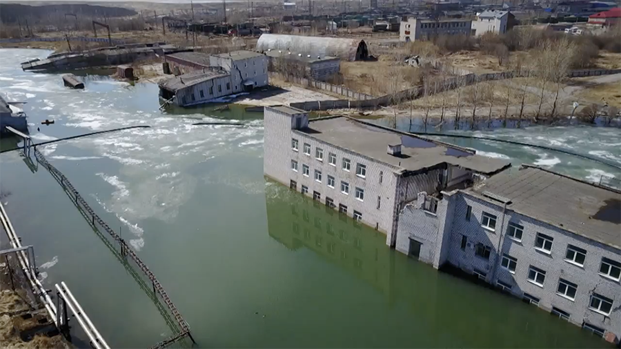 Sinkhole city: Russian settlement being slowly consumed