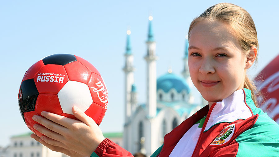 Russian girls football team first ever to become 'ball boys' in World Cup opener