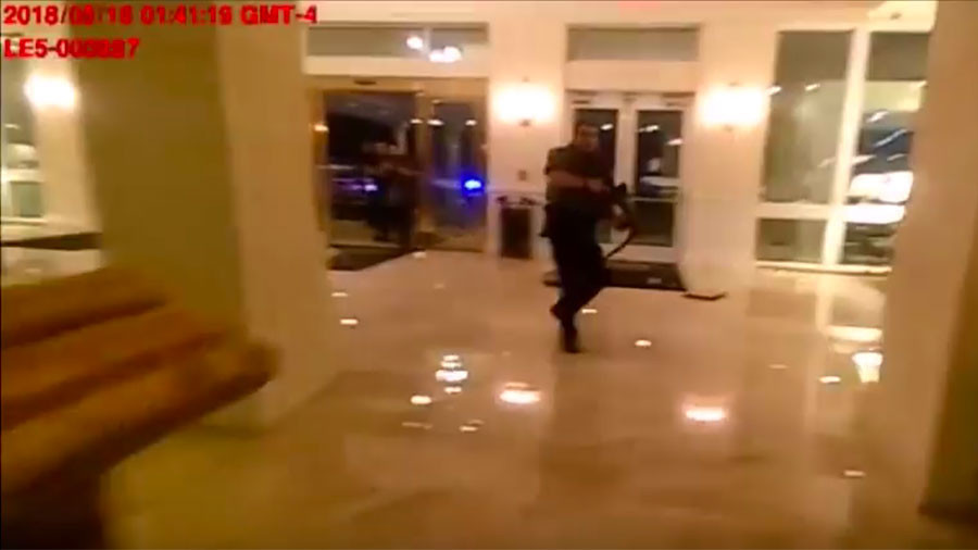 Trump hotel shootout: Florida police release footage of gun attack (VIDEO)