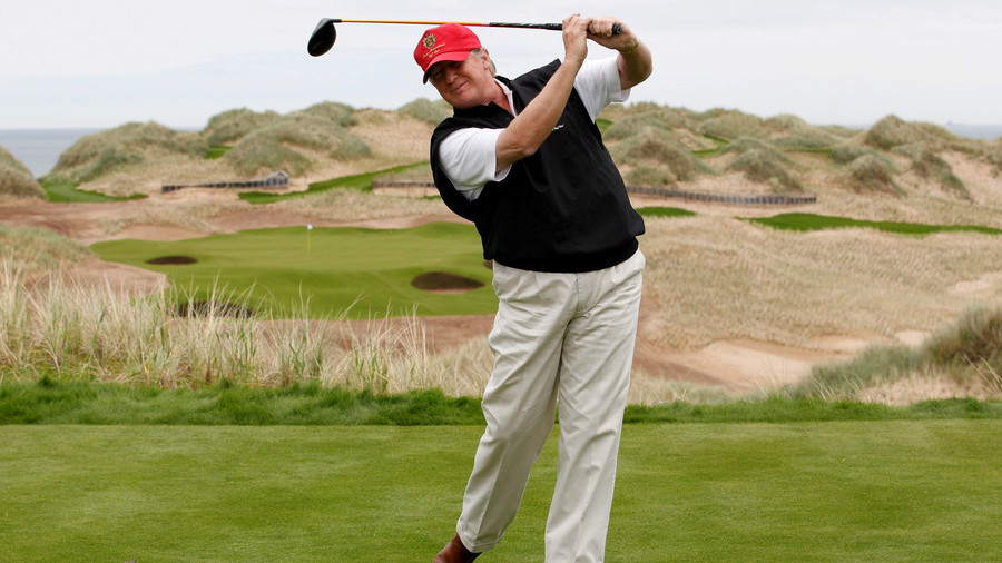 Donald Trump tees up golfing getaway in Scotland to conclude UK visit
