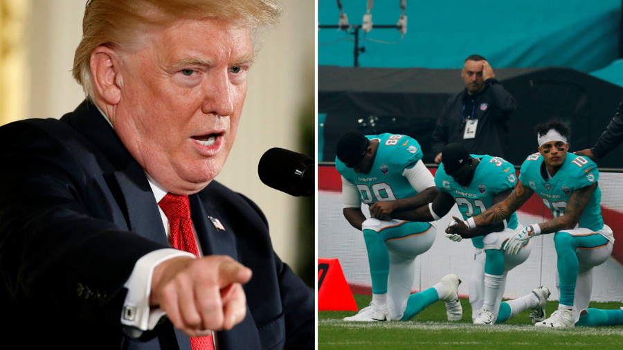 Trump says NFL players who don't stand during national anthem 'maybe shouldn't be in the country'