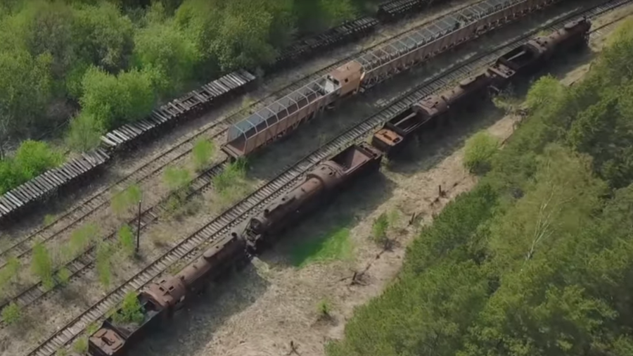 Eerie footage unveils secrets of Soviet-era train graveyard (VIDEO)