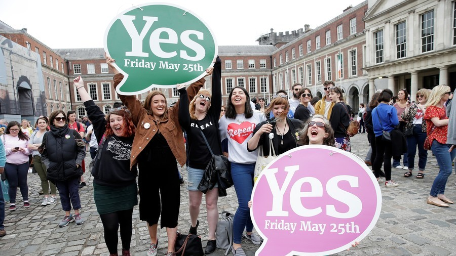 Campaigners celebrate as Ireland votes to scrap abortion laws