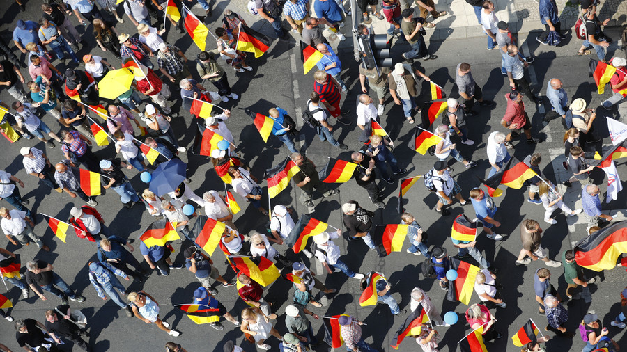 German nationalists march in Berlin