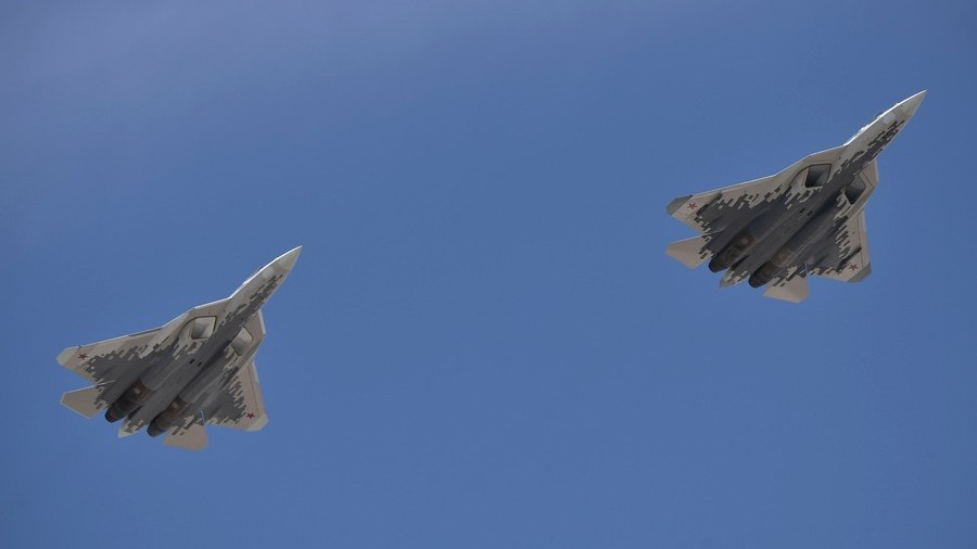 Su-57s destroy mock targets at Aviadarts army contest (VIDEO)