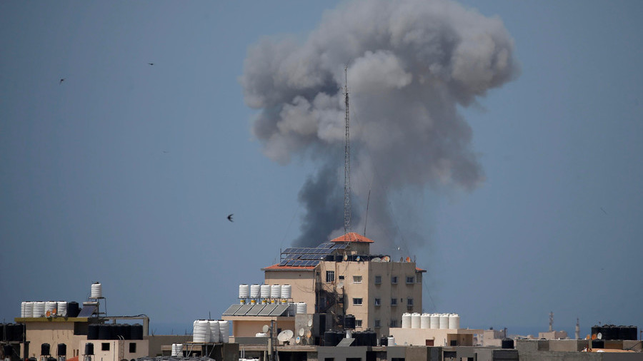 Tensions flare as Israel hits dozens of Gaza targets after mortar barrage